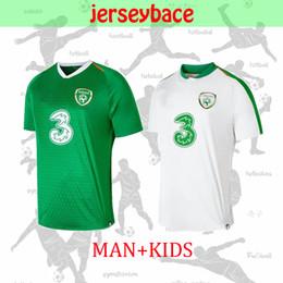 Equipo de uniformes de futbol kit online-NUEVO 19/20 Camiseta de fútbol de Irlanda como local local República de Irlanda Equipo nacional de Tailandia Uniformes de calidad MULLER CLARK kit infantil Camiseta de fútbol
