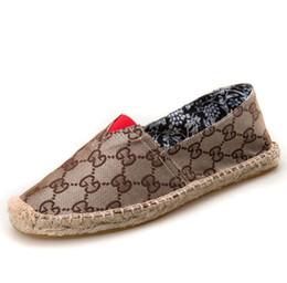 Canada Nouveau 2019 chaussures de pêcheur femmes chaussures simples Printemps Été Mocassins Chanvre Toile Sneakers Respirant Hommes Flats Casual Chaussures Espadrilles cheap espadrille sneakers Offre