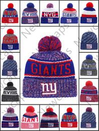 Vendita all'ingrosso New York Sport Inverno Cappelli Giants cucita squadra Logo Marca caldo uomo donna vendita calda berretti a maglia a buon mercato misto berretti da