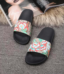 Deutschland Herrenhausschuhe Designer Echtleder Clipfüße im Flip-Style im europäischen Tiger-Stil Slidesandalen mit Boxgröße 35-46 cheap style foot sandal Versorgung