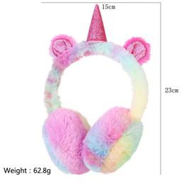 I morsetti auricolari dei bambini online-Cuffie antinfortunistiche per bambini Moda invernale Fantastiche cuffie per bambini unicorno peluche per bambini