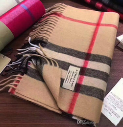 poncho di cachemire donna Sconti Sciarpa per le donne del progettista di marca sciarpa di modo sciarpa 100% cashmere Sciarpe per le donne e mens inverno lungo involucri formato 180x30cm