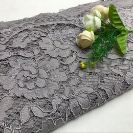 bordado de ropa africana Rebajas Ropa Tela 150 CM bricolaje artesanal exquisito pestaña del cordón del bordado de tela de encaje francés de África para el vestido de boda Accesorios SH190925