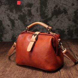 département de cuir Promotion AETOO New Sen Département de sac en cuir sauvage femme couche supérieure en cuir de vachette sac portable diagonale mini docteur femme