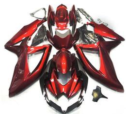 Nuevo kit de carenados ABS para SUZUKI GSXR 600750 GSX R750 R600 GSXR600 08 09 10 GSX-R750 GSXR-600 K8 GSXR750 2008 2009 2010 Todo rojo Oscuro desde fabricantes
