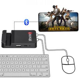 2019 pequeños botones de interruptor Del convertidor del teclado y el ratón para juegos de Adapte PUBG Mobile FPS regulador del juego de Android iOS Smartphone Tablet
