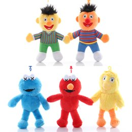 2019 pantofole animali imbottiti 5 tipi 15cm INS Sesame Street Elmo del biscotto giocattolo mostro peluche portachiavi del Sesame Street Stuffed Animals portachiavi bag pendente P153