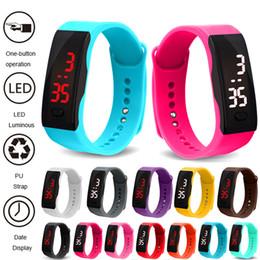 Canada Relogio Bracelet Watch Enfants Montres LED Montres de sport numérique pour enfants garçons filles La date horloge électronique enfant montre Offre