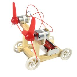 Argentina Bi-wing coche de carreras estudiantes de bricolaje ensamblados a mano ciencia tecnología de invenciones científicas física juguetes experimentales cheap invention toys Suministro
