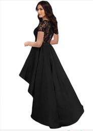 Femmes élégantes Dentelle À Manches Longues Robe Automne Hiver O-Cou Irrégulier Machaon Satin Partie Robe Noire Chic Sexy Vin Robes ? partir de fabricateur