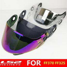 ls2 motorbike helmets Promo Codes - Original LS2 FF370 modular motorcycle helmet sun visor suitable for LS2 FF394 FF325 motorbike helmet sun full shield lens glass
