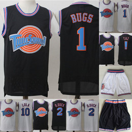 Bugs bunny basquete on-line-Mens Tune Squad Space Jam Movie Jersey 1 Bugs Bunny 2 Daffy Duck 1 3 Tweety Bird 10 Lola Bunny 100% Stitched Basketball Jerseys