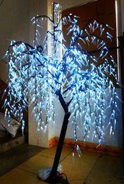Luzes artificiais ao ar livre das árvores on-line-LED Artificial Willow Weeping Árvore de luz ao ar livre Use 1152pcs LEDs 2m / 6,6 pés Altura Rainproof árvore Decoração de Natal frete grátis Branco