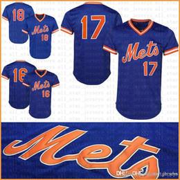 fragole bianche Sconti Syndergaard deGrom Conforto Cespedes New York maglia da baseball Mets Gooden Hernandez Strawberry Piazza maglie cool mesh retro blu bianco
