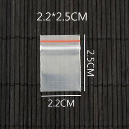kleine plastiktüten verpackung Rabatt 1000pcs / Lot kleine 2.2cm * 2.5cm Klar Zip-Verschluss Resealable Ziplock Grip Seal Plastikkleinpaket-Beutel-Reißverschluss Verpackung Packung Beutel
