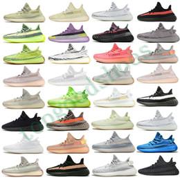 резиновая лодка Скидка Kanye West Yecheil Светоотражающие Дизайнерская обувь Тройной Черный Синий Оттенок Сезам Glow Yeezreel Citrin Мужчины Женщины Тренеры Роскошные кроссовки