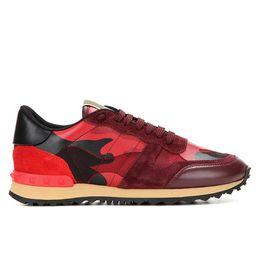2019 nueva zapatilla de rock 2019 Nuevo diseñador de lujo Rock Stud Sneaker Shoes mujeres y hombres zapatos casuales Rock Runner Trainer Party Wedding Shoes 35-46 nueva zapatilla de rock baratos