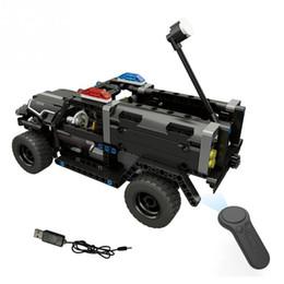 Kit remoto rc on-line-4CH RC Kit Elétrico Modelo de Carro de Polícia Especial Blocos de Montagem do Veículo de Controle Remoto Toy RC Building Block Toy para crianças