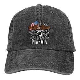 2019 Nueva Venta Al Por Mayor Gorras de Béisbol Imprimir Hat Eagle POW MIA  Mens Algodón Ajustable Lavado Twill Gorra de béisbol Sombrero 45c50a5375b