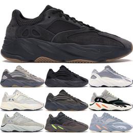 Con la caja  Adidas Yeezy 700 V2 Wave Runner Geode Inercia Gris sólido Vanta Geode Static Malva Hombres Mujeres Kanye West Zapatos para correr Zapatillas de deporte de diseñador desde fabricantes