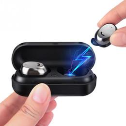 Микро-гарнитура bluetooth гарнитура онлайн-M9 TWS True Wireless Наушники Микро Наушники Мини-Близнецы Гарнитура Стерео Ухо Bluetooth Наушники Наушники с Коробкой
