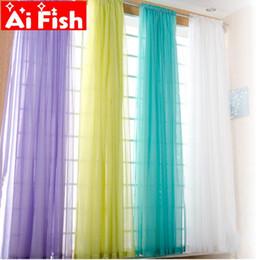 Verdunkelung türpaneel vorhänge online-Europäische und amerikanische Vorhang Style White Fenstersiebung Solide Türvorhänge Drape-Panel Transparenter Tüll für Wohnzimmer AP184 # 3-40