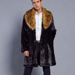 casacos de pele punk Desconto 2019 Homens Casaco De Peles Quentes de Inverno Faux Fur Outerwear Blusão Masculino Parka Do Punk Trench Jackets Sobretudos Streetwear