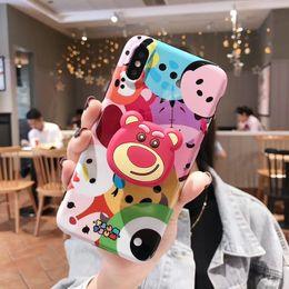 caja del teléfono oso lindo Rebajas Mytoto fashion cute cartoon Airbag bracket bear Daisy funny Funda para teléfono móvil para iphone 6 6s 6plus 7 8 plus X XR XS MAX