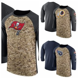 Washington Redskins Titans Tampa Bay Buccaneers Salute to Service Sideline  Legend Performance Three-Quarter Sleeve T-Shirt c47b85bf1