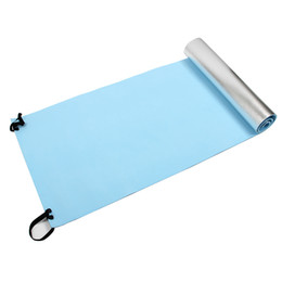 yoga mattress Promo Codes - Extra Thick Camping Picnic Pad Yoga Mat Sleeping Outdoor Mattress Fitness Mat (Blue, Silver)