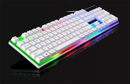 rii i8 bluetooth Rabatt Hohe Qualität G21 Ergonomische LED Bunte Hintergrundbeleuchtung USB Verdrahtete Gamer Gaming Tastatur USB Angetrieben für Desktop Laptop PUBG Gamer