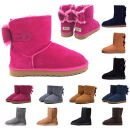 arco de tornozelo vermelho Desconto 2018 inverno Novo UGG Austrália Botas de neve Clássico Qualidade Barato mulheres botas de inverno moda desconto Tornozelo sapatos tamanho 5-12