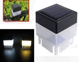 2019 luz del poste cuadrado 2x2 Solar Post Cap Light Square Luz de pilar con energía solar para cercas de hierro forjado Patio delantero Patio trasero Puerta Paisajismo Residencial LLFA luz del poste cuadrado baratos