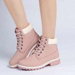 botas de tacón caliente de invierno Rebajas 2018 Hot New Autumn Early Winter Shoes Mujer Botas de tacón plano Moda Mantener cálidas Botas de mujer Marca Mujer Tobillo Botas Camuflaje
