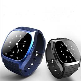 android smart watch m26 Скидка M26 Smartwatches Bluetooth Smart Watch для Android Мобильный телефон со светодиодным дисплеем Музыкальный плеер Шагомер для iPhone в розничной упаковке