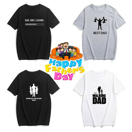 89798d27 Best Dad T-shirt Father's Day Present Tee The Walking Dad Tops Birhday  Party Cotton Short Sleeve T shirt Top Camisetas Hombre dad tee shirts deals