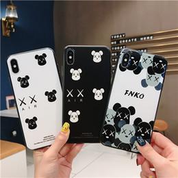 Estuches de teléfonos celulares simples para IphoneX XS Max XR 6/7/8 Plus cubierta de teléfono TPU PC negro blanco resistente a la suciedad para la venta desde fabricantes