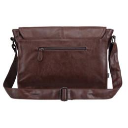 34fe5a057e249 Designer-Handtaschen-Männer 14 Zoll-Laptop-Beutel-männliche PU-Leder -Kuriertaschen-Mann-Reise-Schultasche-Freizeit-Schulter-Beutel geben Schiff  frei