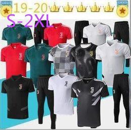 Kits de formation de football en Ligne-2019 20 Juventus Soccer Training Suit Survêtement Ensembles Juventus 3/4 Traning Jersey Pantalon De Football Polos De Football