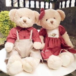 Schöner großer teddybär online-2019 65cm New Puppe Big reizende Teddybär-Kinder Weihnachtsgeschenke Kuscheltiere Plüsch-Spielzeug Baby-nettes Geburtstagsgeschenk für Kinder