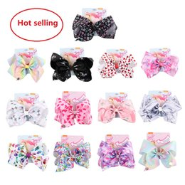 Handmade JOJO Hair Bows Unicorn Starry Sky Heart Barrettes Clips Kids Accessories Birthday Gifts Boutique Store 2019