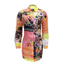 ankle length slip dresses Скидка Женщины Повседневная сексуальная рубашка платье с отворотом с длинным рукавом с цветочным принтом мини-платья Женская одежда P608