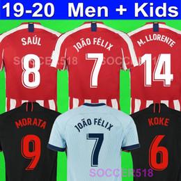 Jersey diego costa online-Atletico Madrid 2019 2020 JOÃO FÉLIX atletico KOKE madrid GIMÉNEZ Fußball Trikots LLORENTE HERRERA Survêtement DIEGO COSTA Fußball-T-Shirt JOAO FELIX KIDS