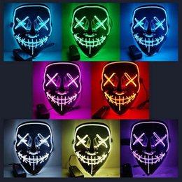 10 styles Halloween El Fil Froid Lumière Ligne Ghost Horreur Masque LED Parti Cosplay Mascarade Street Dance Halloween Rave Jouet ? partir de fabricateur