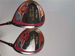 tacos de golfe cabeça cobertura madeiras Desconto Brand New Beres S-06 Madeira Fairway S-06 Madeiras de Golfe Mulheres Golf Clubes # 3 / # 5 L Flex Eixo Grafite Com Tampa Da Cabeça