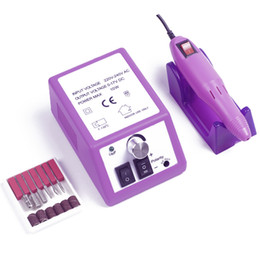Esmalte de uñas online-20000 RPM Máquina de taladro eléctrico de uñas Manicura Pedicura archivos Kit de herramientas Pulidor de uñas Pulido Máquina de esmaltado para esmalte de gel