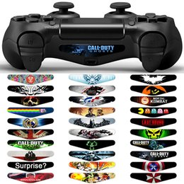 Controlador de juegos múltiples online-Custom Game Light Bar Vinyl Stickers Decal Led Lightbar película para Sony PS4 Playstation Controller PS4 manejar tira de luz etiqueta engomada