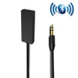 3.5mm Jack Acessórios Mini Adaptador de Música Sem Fio Mãos Livres Auto Receiver Car Audio Stereo Microfone de Alumínio Kit Bluetooth supplier bluetooth car stereo mini microphone de Fornecedores de mini microfone estéreo do carro do bluetooth