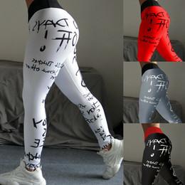 2020 calça exercício quente o melhor de 2019 novas mulheres esporte Carta quente do sexo feminino calças esportivas pant yoga exercício roupas de ginástica yoga roupas calça exercício quente barato