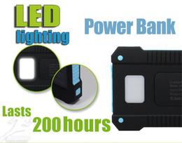 celular da bateria solar Desconto Universal 20000 mAh Portátil Carregador Solar Bancos Carregadores de Bateria de Painel Solar À Prova D 'Água com Ultra-fino Destaque LED para todos os telefone celular